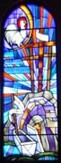 New Stained Glass Window #7, St. Patrick's, Dickenson, SD