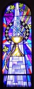 New Stained Glass Window #8, St. Patrick's, Dickenson, SD